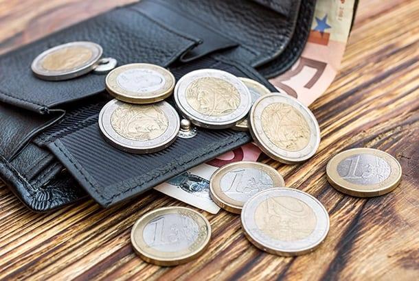 Euro's papiergeld en munten