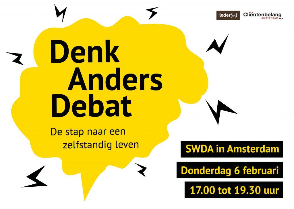 Illustratief: Logo Denk Anders Debat