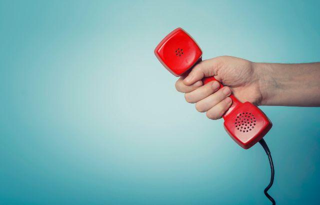 rode telefoonhoorn