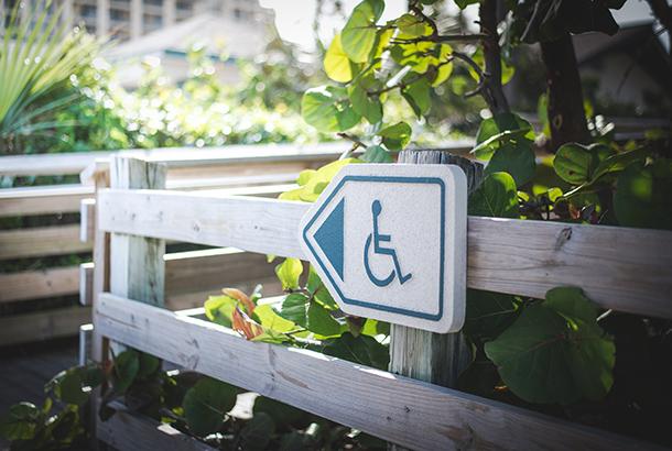 Bordje rolstoeltoegankelijk