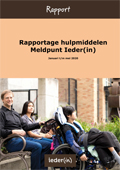 Omslag Rapport Hulpmiddelen Meldpunt Ieder(in)